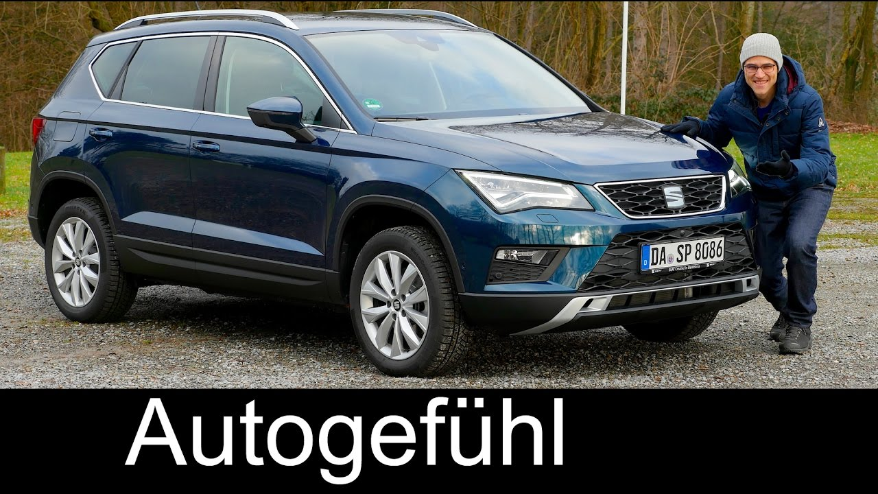 Seat Ateca Xcellence >> Seat Ateca FULL REVIEW test driven 1.0 TSI FWD Style 2017 Lava Blue - Autogefühl - YouTube