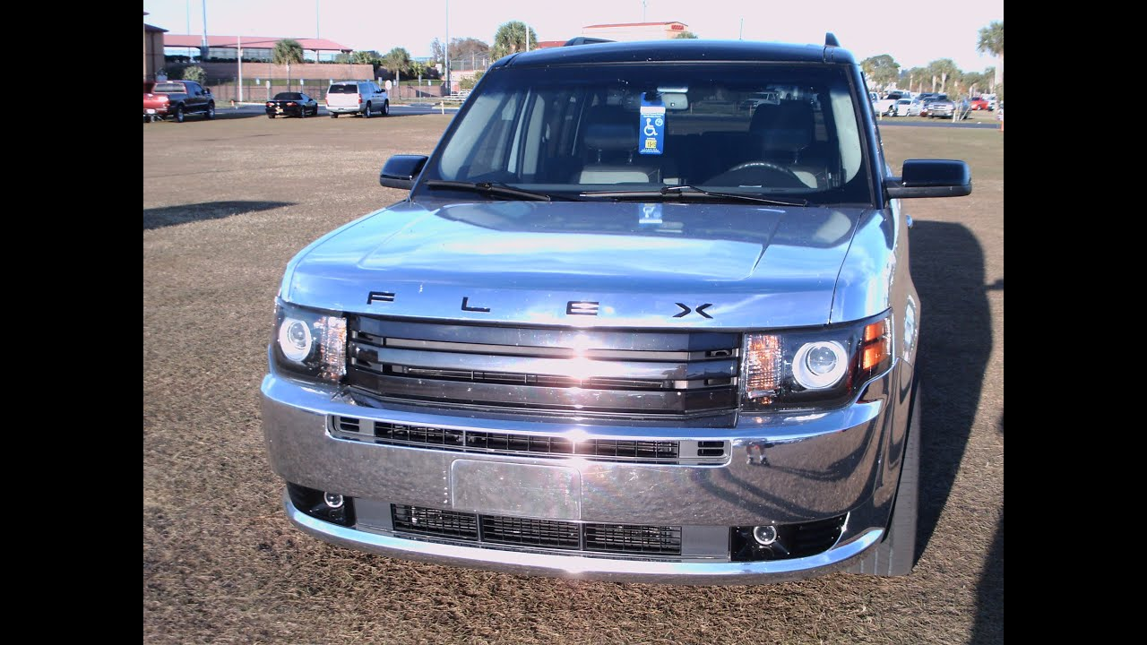 2012 Ford Flex Chrome Wrap Kissimmee012014 Youtube