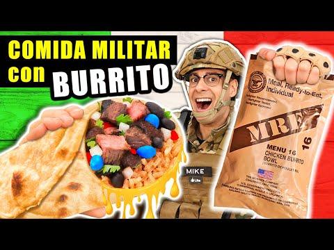 Probando COMIDA MILITAR con BURRITO Mexicano   MRE Estados Unidos Menu 16   Curiosidades con Mike