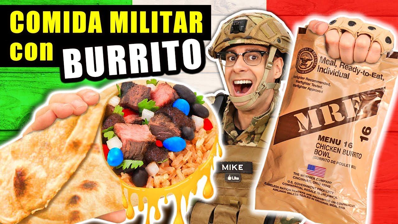 Probando COMIDA MILITAR con BURRITO Mexicano | MRE Estados Unidos Menu 16 | Curiosidades con Mike
