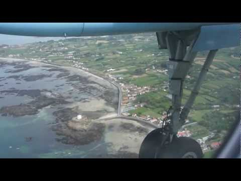 Landing at Guernsey Airport