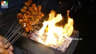 Chicken Tikka Kabab Recipe | Indian Non Veg Starter | STREET FOODS 2017