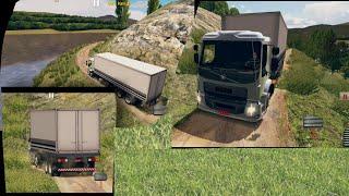 World Truck Driving Simulator - GamePlay #5 (Volvo VM/FL 8x4 Hard Dirt Road)