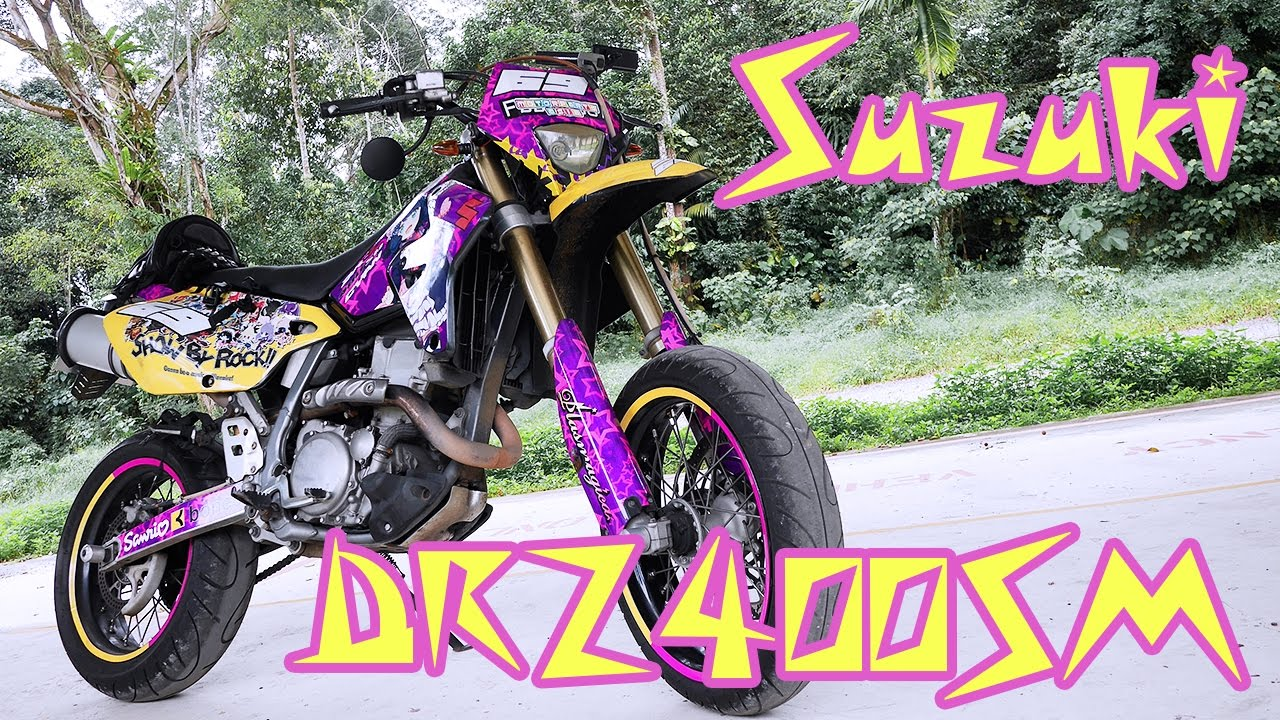 2006 Suzuki DRZ 400 SM [RP Motorcycle Reviews] - YouTube