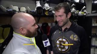 David Backes interview on returning to St. Louis [HD] 1/10/17