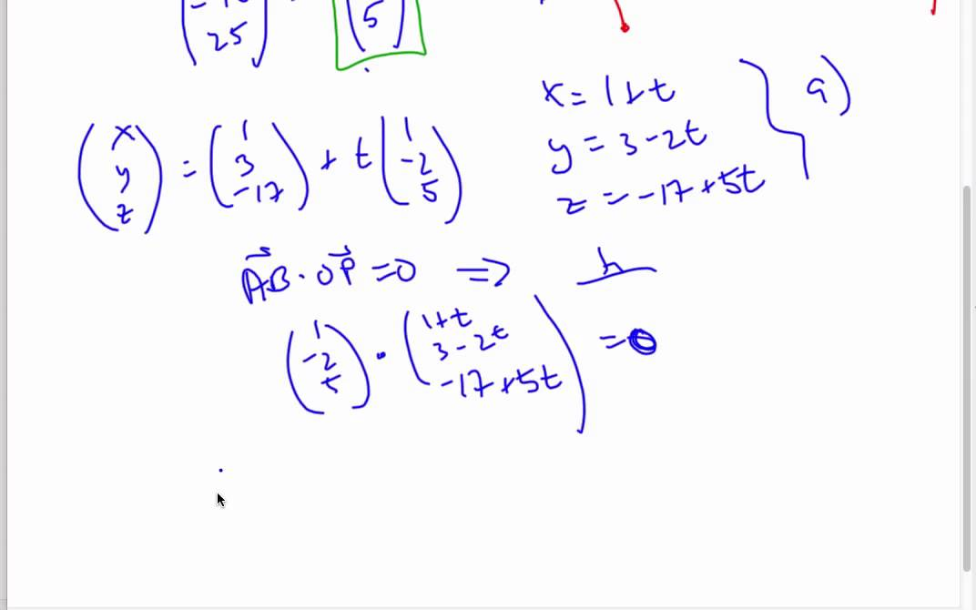 IB Math - Lines and Perpendicular Vectors - YouTube