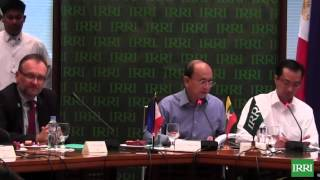 Myanmar President U Thein Sein at IRRI