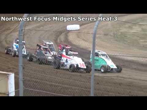 Grays Harbor Raceway, 2018 Fred Brownfield Classic, Night 2, NW Focus Midgets Series Heats 1,2 & 3