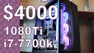 $4000 WATERCOOLED GAMING PC - TIME LAPSE BUILD