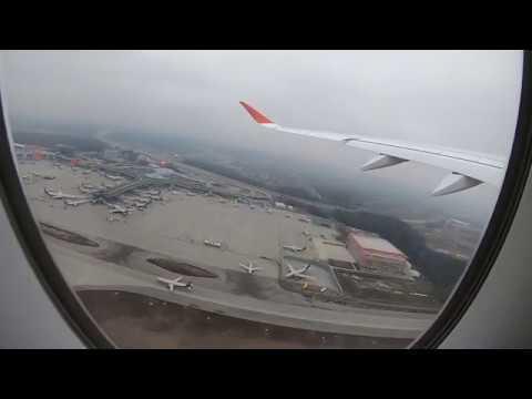 Взлет, посадка и руление Airbus A350-900 а/к Аэрофлот