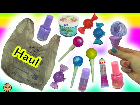 Walmart Candy Shop Cosmetic Makeup Haul - Lollipop Lipgloss, Ice Cream Nail Polish + More