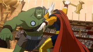Planet Hulk: Hulk vs Beta Ray Bill scene