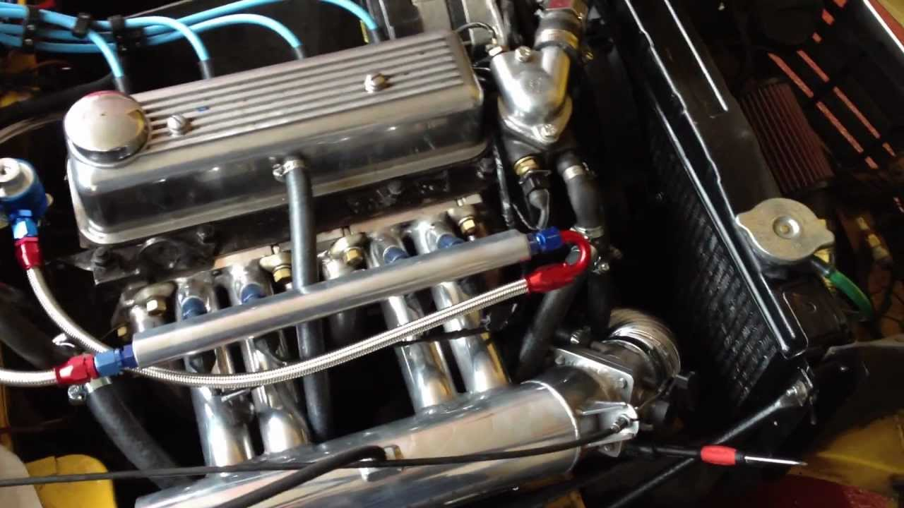 Triumph Spitfire 1500 - first attempt at idling on electronic fuel injection