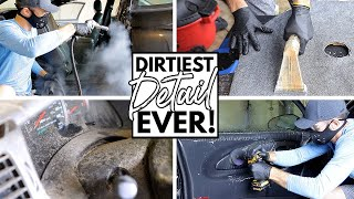 Cleaning The Dirtiest Car Interior Ever! Complete Disaster Full Interior Car Detailing Series Ep. 10