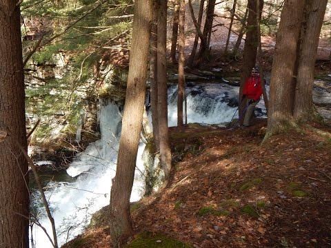 Sand Run Falls Trail 6.4 mile hike in Pennsylvania