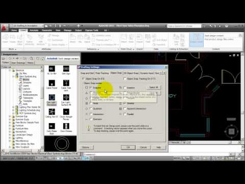 How to AutoCAD - Creating an Electrical Lighting Plan Part 1mp4