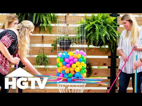 DIY Backyard Kerplunk Game - HGTV Happy