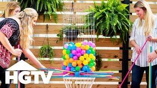 DIY Backyard Kerplunk Game - HGTV Happy