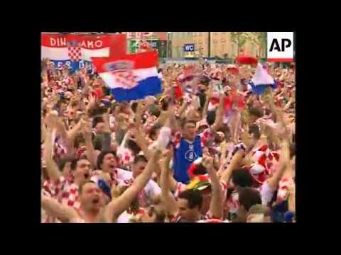 Fans watch Croatia v Germany in Euro 2008