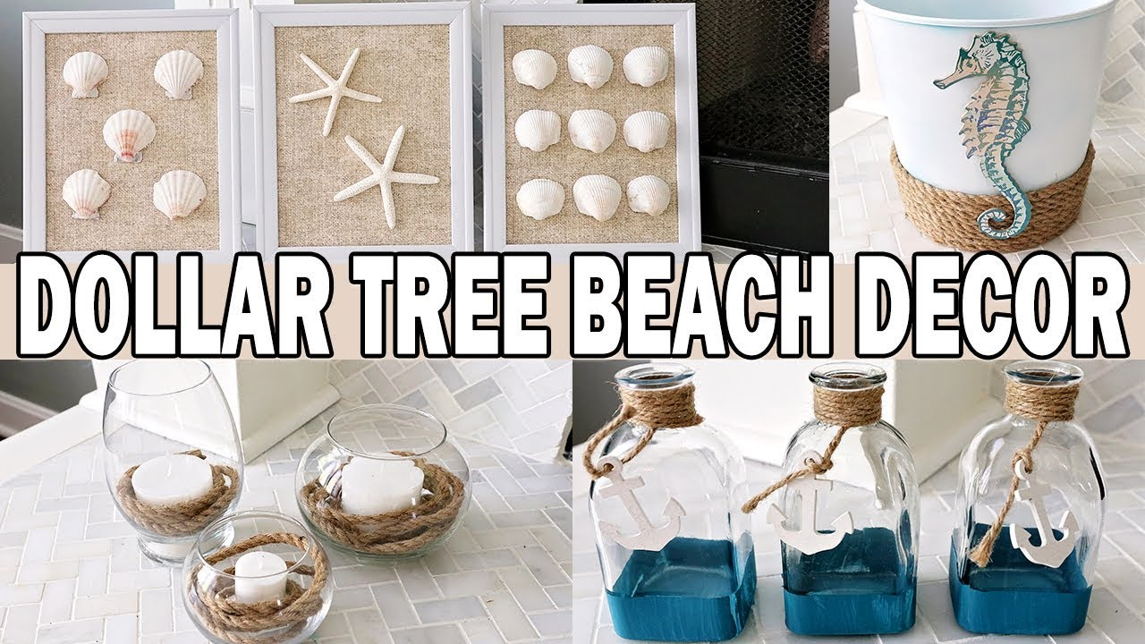 Dollar Tree Diy Coastal Beach Decor Nautical Decor Youtube
