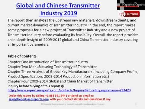 2019 Global & China Transmitter Market Report
