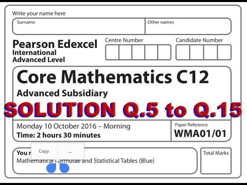 IAL MATHEMATICS C12 NOV 2016 Part 2