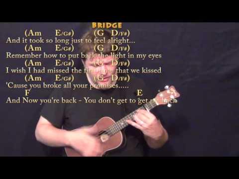 Jar of Hearts (Christina Perri) Ukulele Cover Lesson with Chords/Lyrics - Capo 3rd