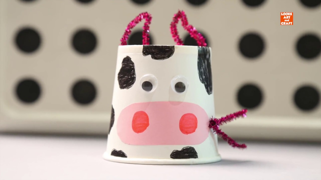Cute Paper Cup Pig Kids Art And Craft Activity For Children