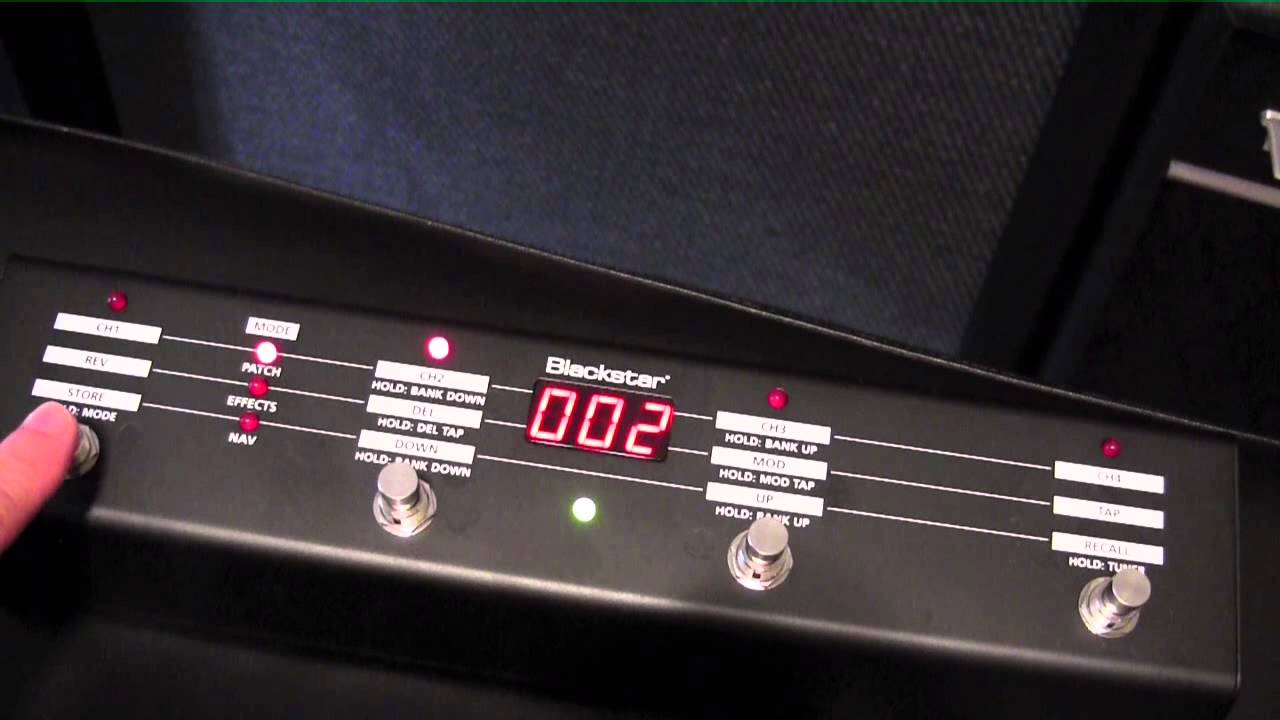 Blackstar Amplifier Fs 10 Foot Switch Demo Youtube