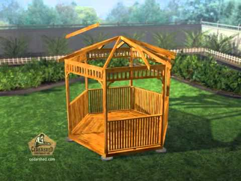 Hexagon Gazebo Panelized Assembly Animation Youtube
