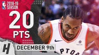 Kawhi Leonard Full Highlights Raptors vs Bucks 2018.12.09 - 20 Pts, 4 Ast, 8 Rebounds!