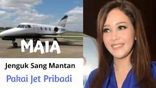 Pakai Jet Pribadi, Maia Jenguk Ahmad Dhani di...?