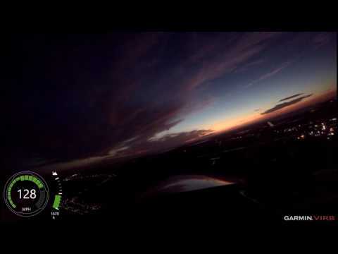 Cessna 310 Night Flight; HUM to AXH