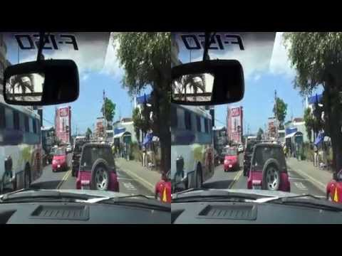 (3D) Unedited drive through streets of Jaco in Costa Rica