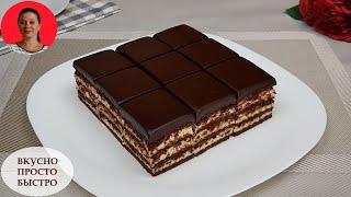 Потрясающе Вкусный Торт Без Духовки Без Миксера Торт из Печенья SUBTITLES