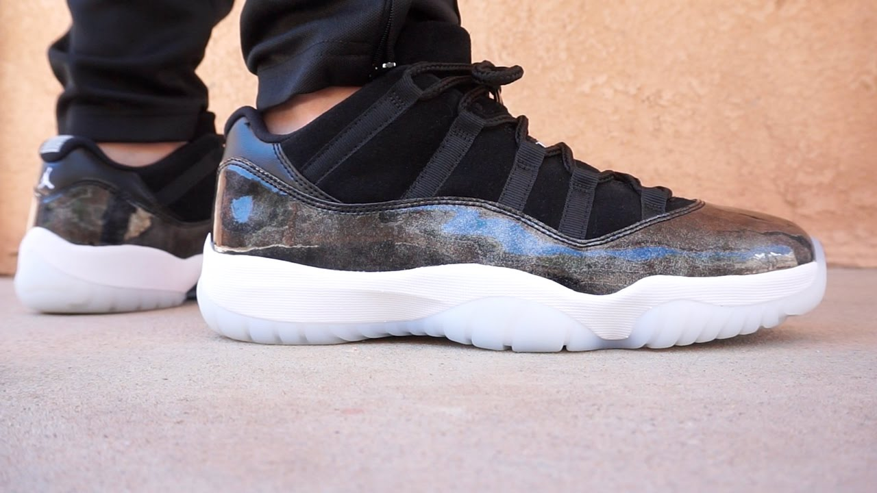 19774c9ea00b6c NIKE AIR JORDAN 11 LOW BARON EARLY LOOK UP CLOSE ON FOOT HD HQ - YouTube