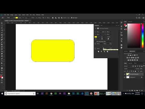 Rounded Rectangle Tool - Adobe Photoshop CC 2019