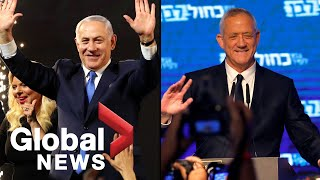 Israel election 2019: Netanyahu and Benny Gantz both claim victory in tight race., From YouTubeVideos