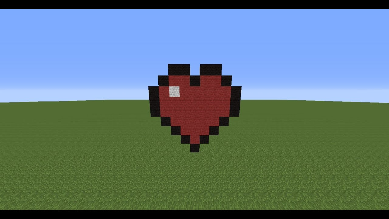 Minecraft Pixel Art Le Coeur Youtube