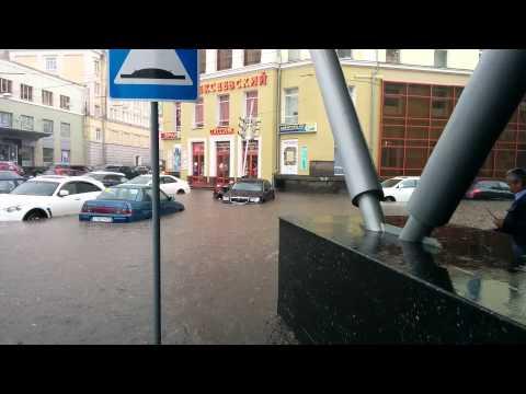 Потоп на дороге Нижний Новгород ул. Алексеевская