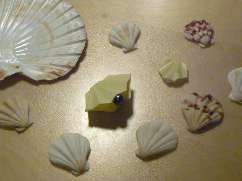 DIY Origami Shell (Brooch)