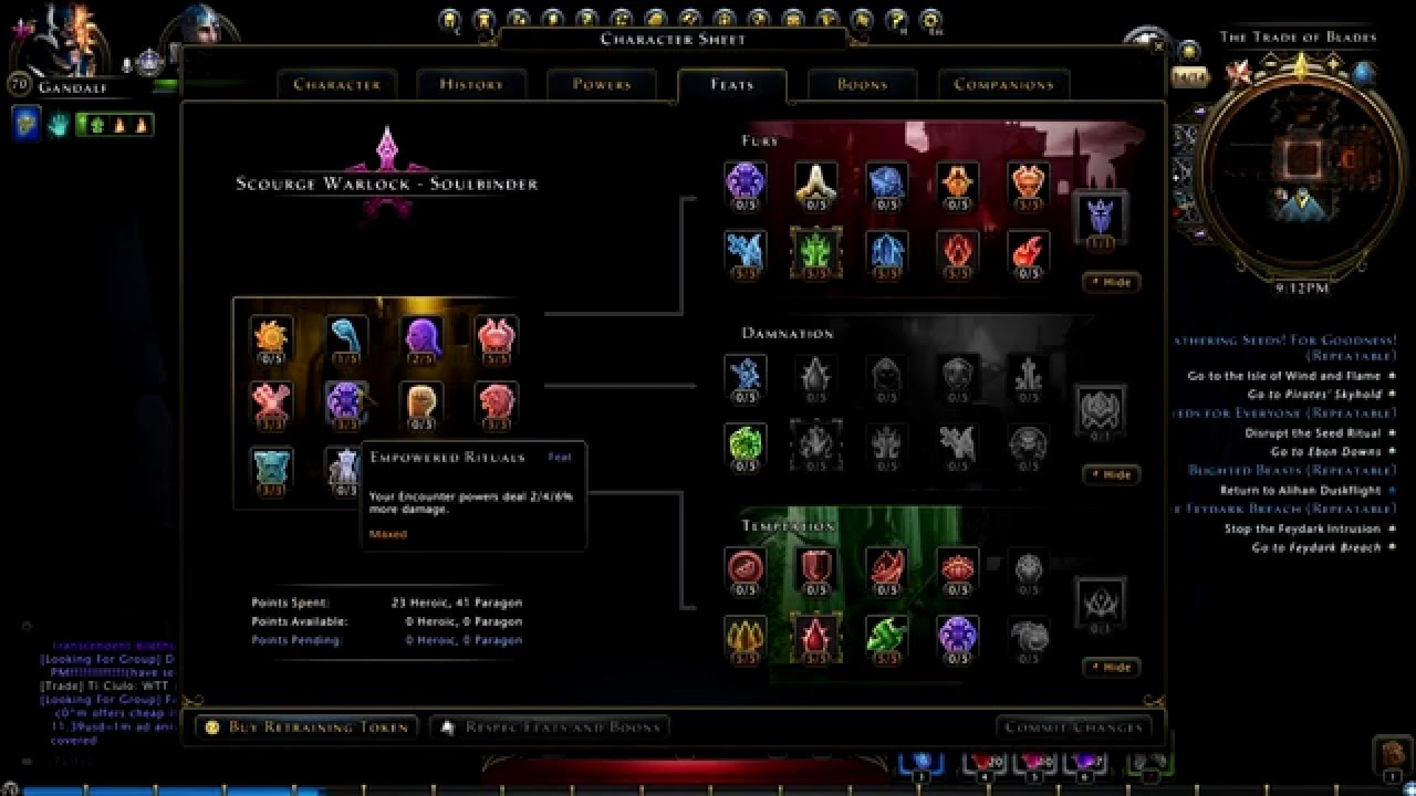 Neverwinter Scourge Warlock DPS build 2016