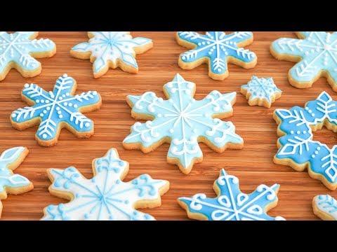 Copos De Nieve Galletas Decoradas Para Navidad Tan