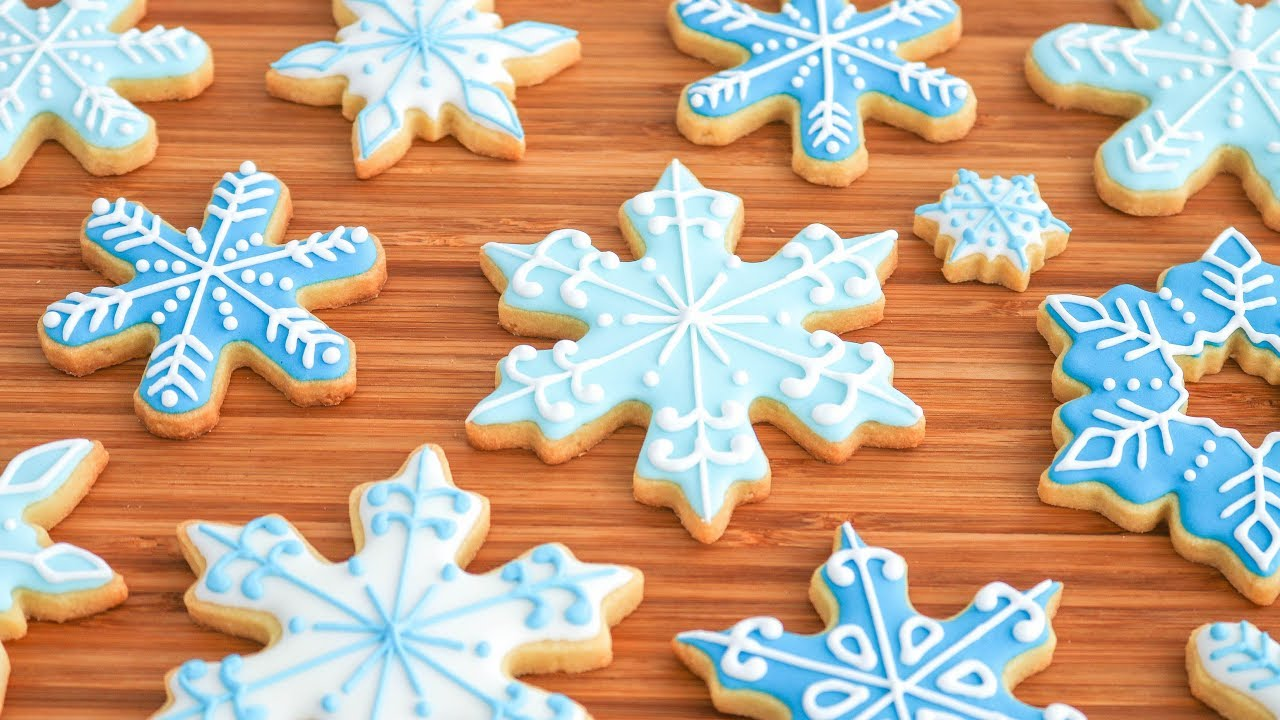 Copos De Nieve Galletas Decoradas Para Navidad Tan Dulce