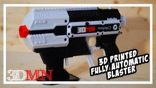 The Most Insane 3D Printed Fully Automatic Performance Blaster EVER! - Project FDL-3