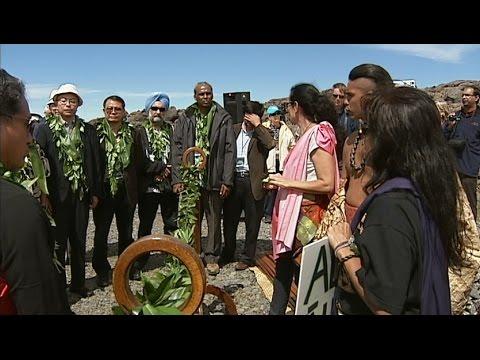 TMT Opponents Halt Groundbreaking Ceremony