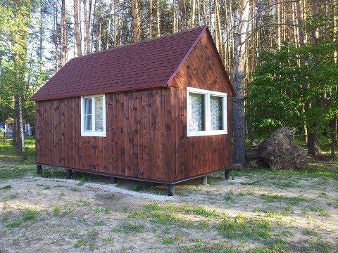 Каркасный домик 6Х3. Tiny House. Этап 3. Черновая обшивка, утепление, установка окон, мягкая кровля.