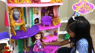 Princess Sofia The First Enchancian Castle Unboxing | Toys Academy