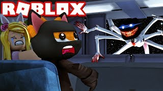 THE MONSTER COMES INTO OUR SPACESHIP?! - Roblox [English/HD]
