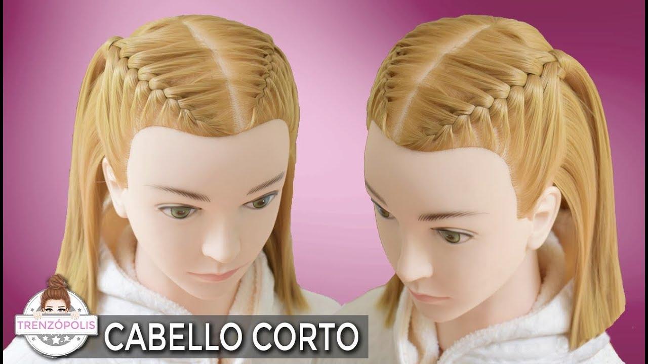 Semirecogidos Con Trenzas Para Cabello Corto Peinados Faciles Y Rapidos
